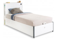Кровать односпальная с подъёмным механизмом White