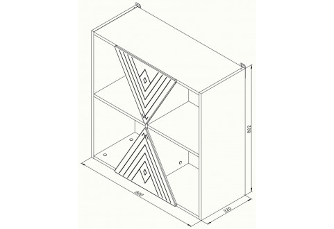 Детская мебель Полка навесная квадрат Апачи