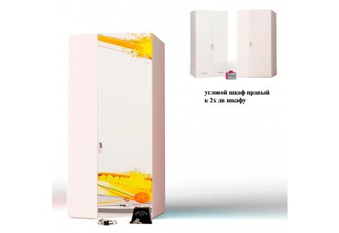 Детская мебель Шкаф угловой к двухдверному шкафу Champion белый