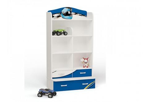 Детская мебель Стеллаж широкий  La-Man синий