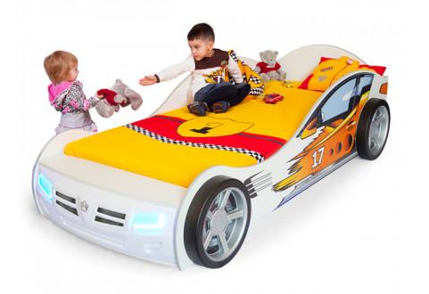 Детская мебель Кровать-машина Champion белый