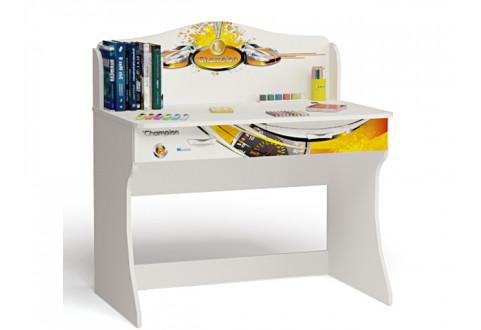 Детская мебель Стол письменный без надстройки Champion белый