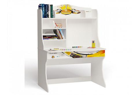 Детская мебель Стол письменный с надстройкой Champion белый