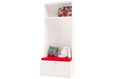 Детская мебель Стеллаж с объемным ящиком La-Man красный