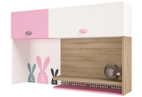 Детская мебель Надстройка к письменному столу Mix Bunny розовый