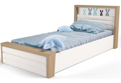 Детская мебель Кровать с подъемным механизмом и мягким изножьем Mix Bunny голубой