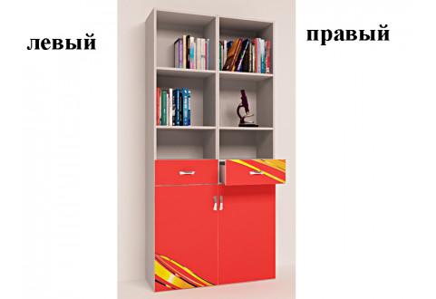 Детская мебель Стеллаж узкий Champion красный