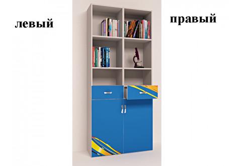 Детская мебель Стеллаж узкий Champion синий