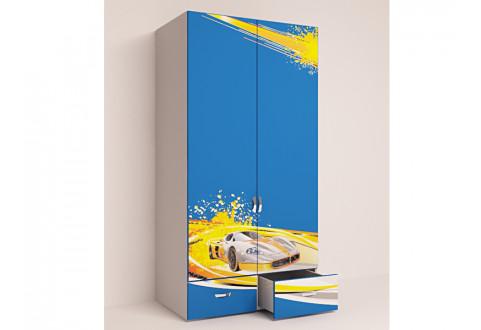 Детская мебель Шкаф двухдверный Champion синий