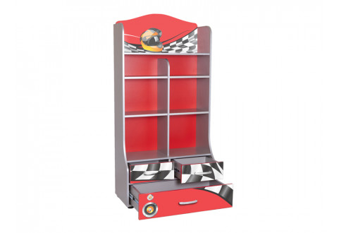 Детская мебель Стеллаж широкий Formula красный