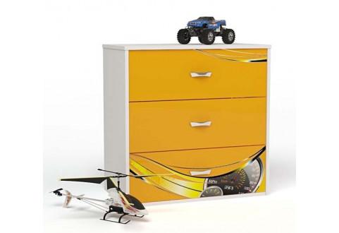 Детская мебель Комод Champion оранжевый
