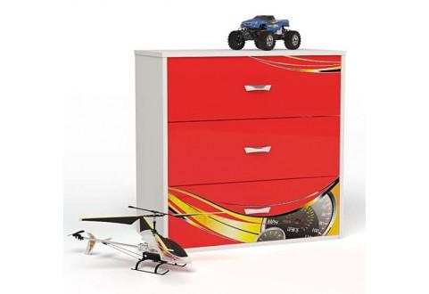 Детская мебель Комод Champion красный