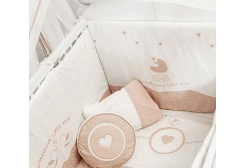 Детская мебель Комплект постельных принадлежностей бежевый Romantic Baby
