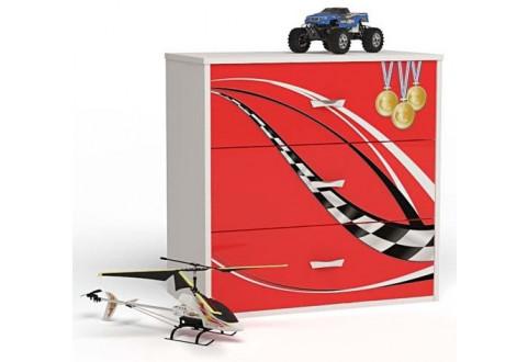 Детская мебель Комод Formula красный