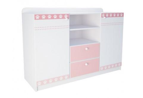 Детская мебель Комод две двери два ящика широкий Кошки