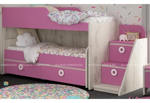 Детская мебель Кровать-чердак с выкатной кроватью Mini