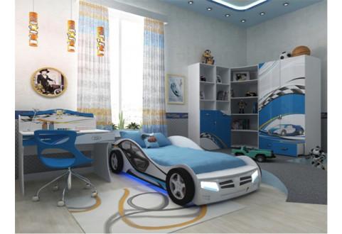 Детская мебель Кровать-машина La-Man синий