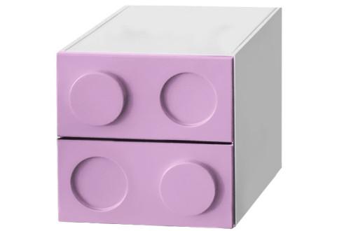 Детская мебель Тумбочка с двумя ящиками Леголэнд
