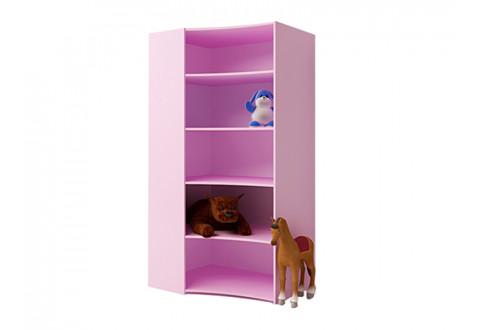 Детская мебель Угловой стеллаж открытый Princess
