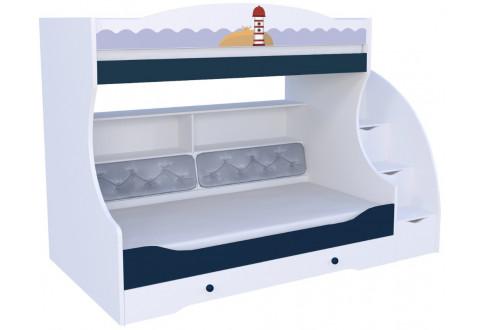Детская мебель Кровать двухъярусная Морская