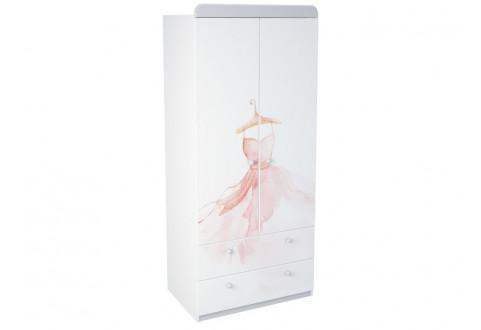 Детская мебель Шкаф с двумя ящиками La princess