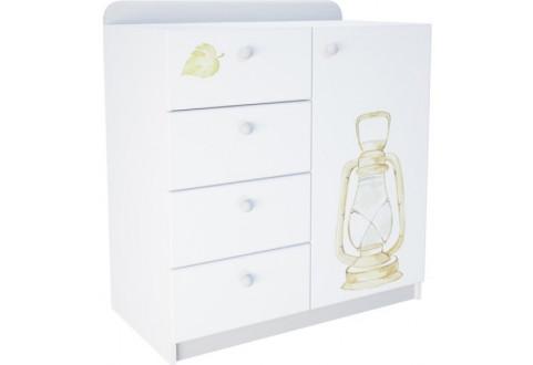 Детская мебель Комод одна дверь четыре ящика Сафари парк
