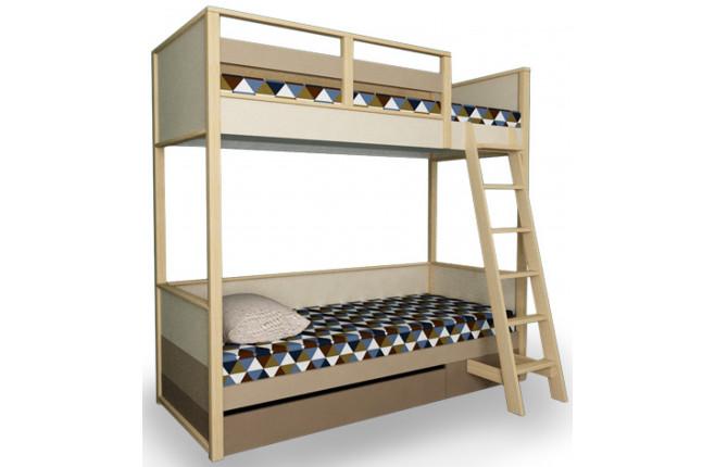 Кровать двухъярусная с ящиком Робин Вуд