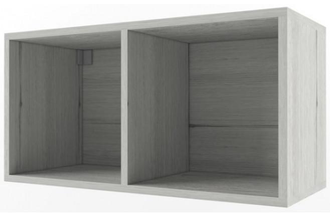 Полка два куба открытая НьюТон Грей