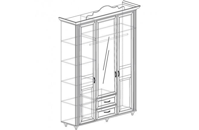 Шкаф трехдверный Алиса