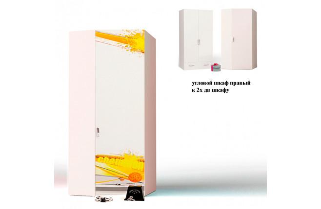 Шкаф угловой к двухдверному шкафу Champion белый