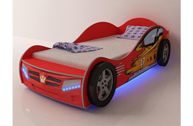 Кровать-машина Champion красный