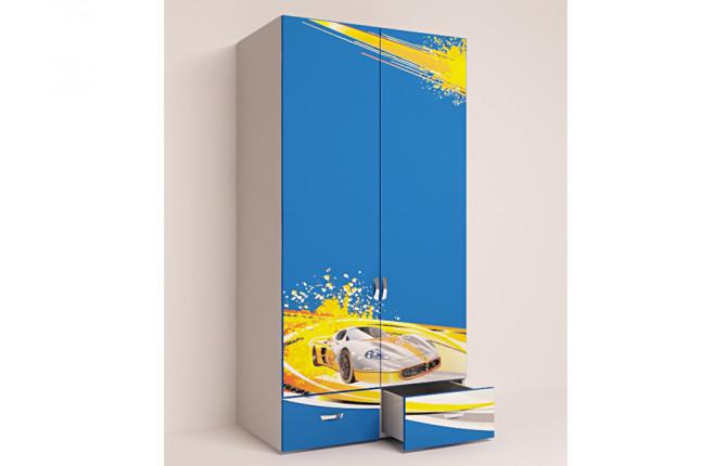 Шкаф двухдверный Champion синий