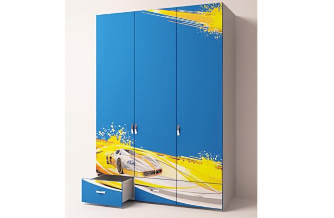 Шкаф трехдверный Champion синий