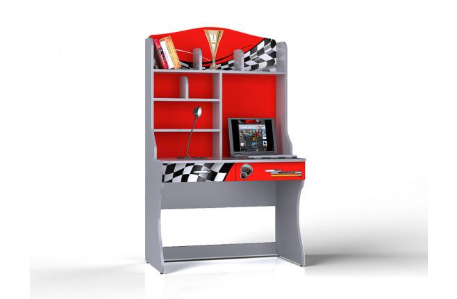 Стол письменный с надстройкой  Formula красный