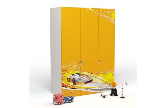 Шкаф трехдверный Champion оранжевый