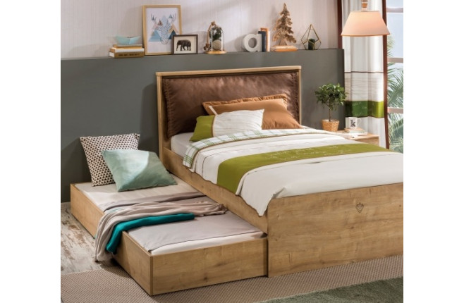 Кровать с мягким изголовьем Mocha