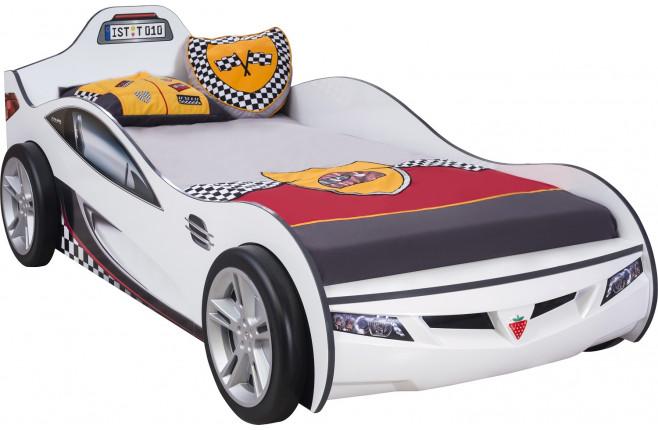 Кровать-машина белая Coupe