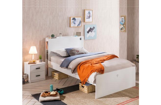 Кровать односпальная White