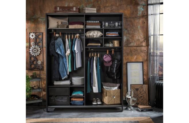 Шкаф со сдвижными дверями Dark Metal