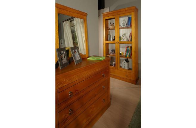 Шкаф книжный двухдверный Дания