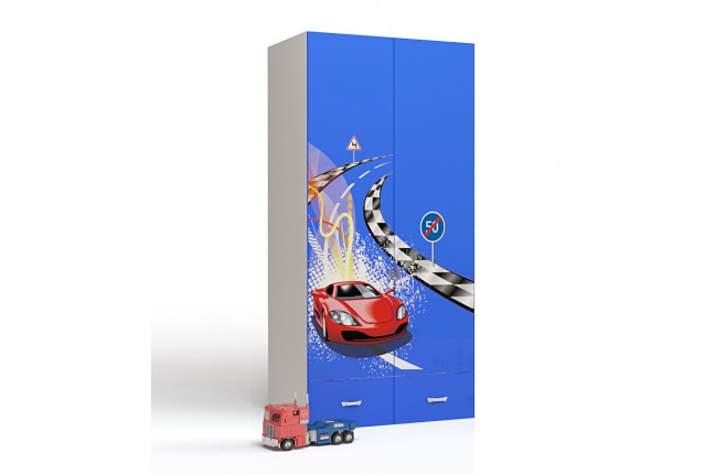 Шкаф двухдверный Formula синий