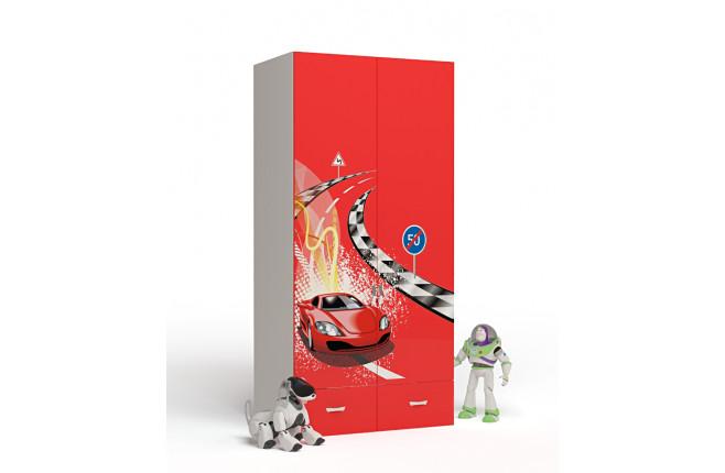 Шкаф двухдверный Formula красный