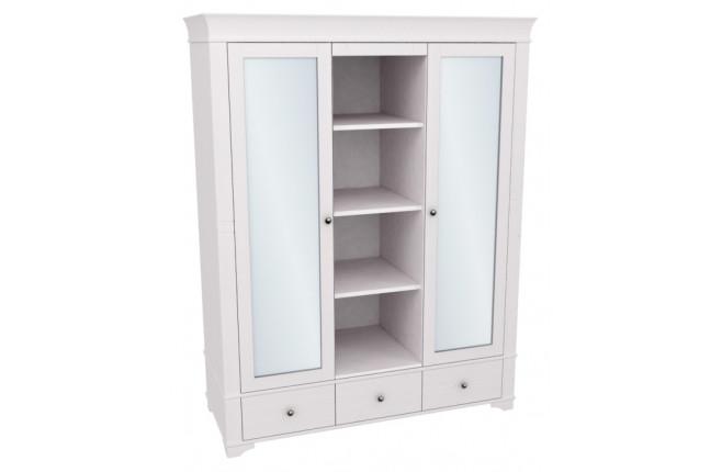 Шкаф двухдверный с двумя зеркальными дверями и полками Бейли