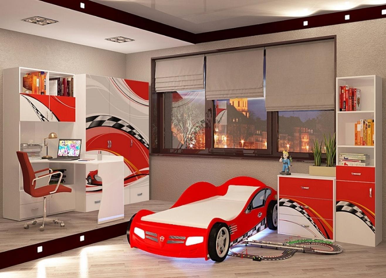 Коллекция детской мебели La-Man красный