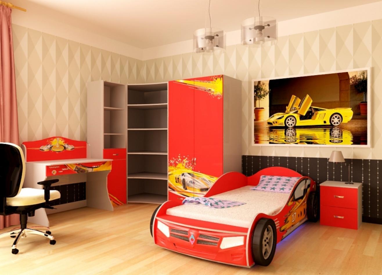 Коллекция детской мебели Champion красный