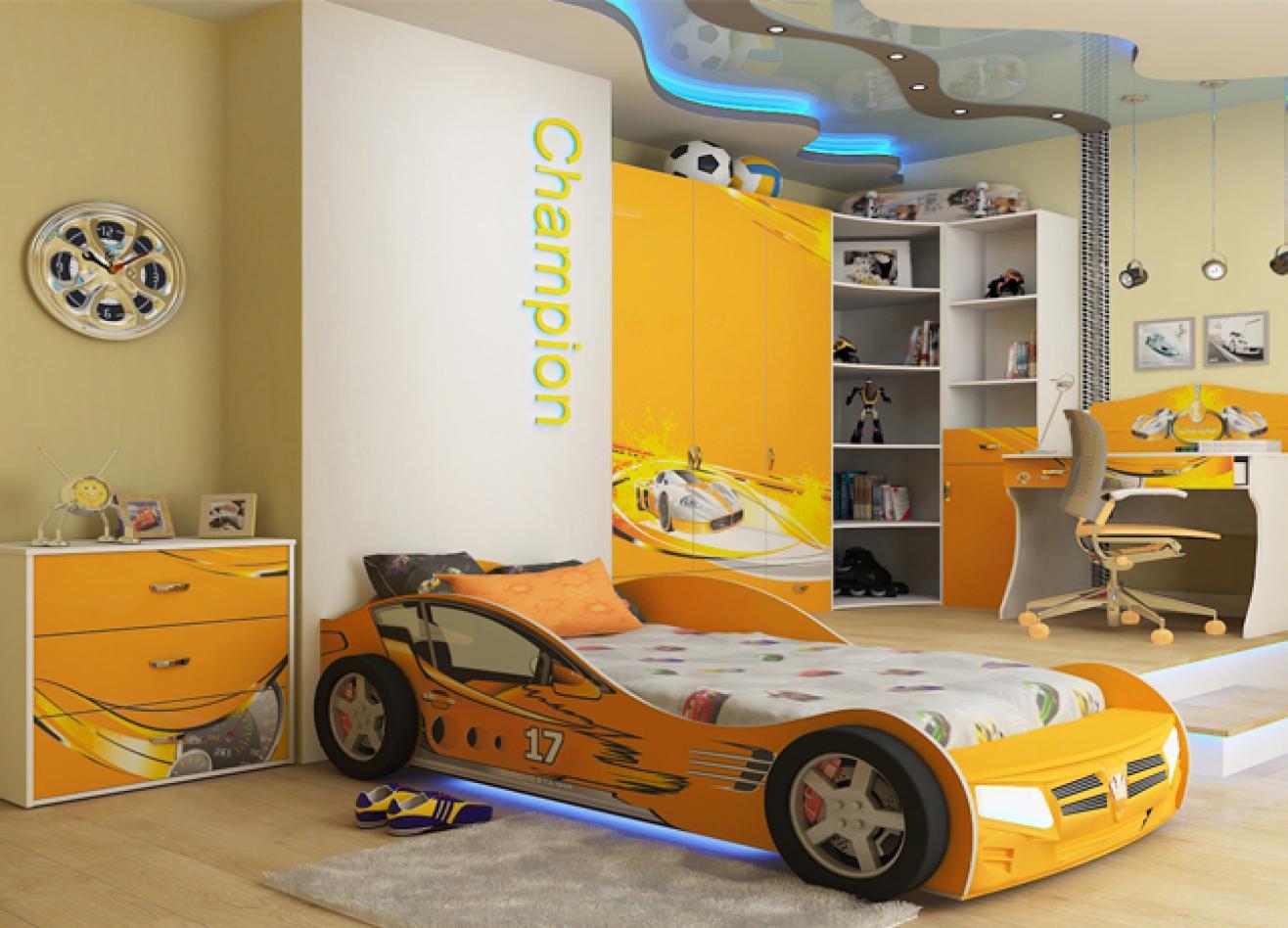 Коллекция детской мебели Champion оранжевый