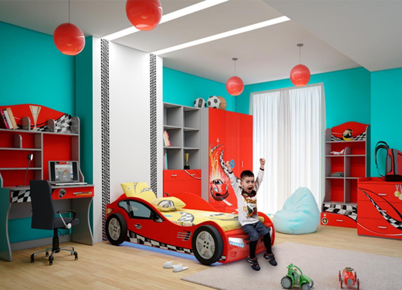 Коллекция детской мебели Formula красный