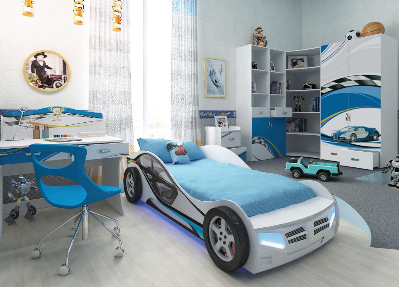 Коллекция детской мебели La-Man синий