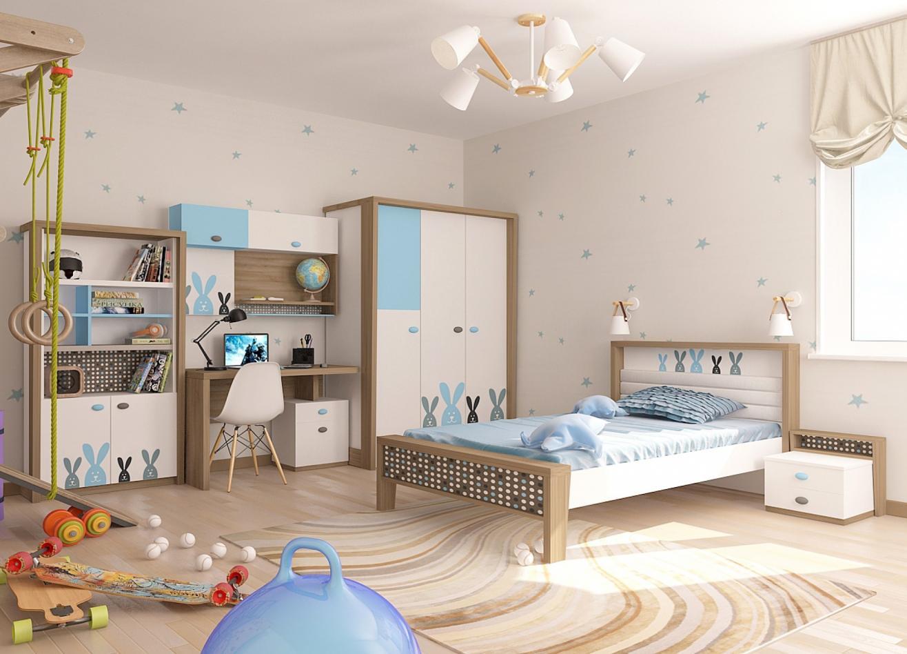 Коллекция детской мебели Mix Bunny голубой