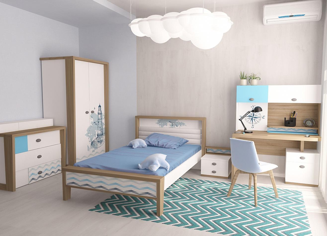 Коллекция детской мебели Mix Ocean голубой